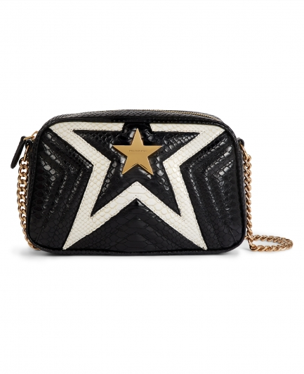 Stella McCartney,星星圖樣蛇紋鏈帶包。