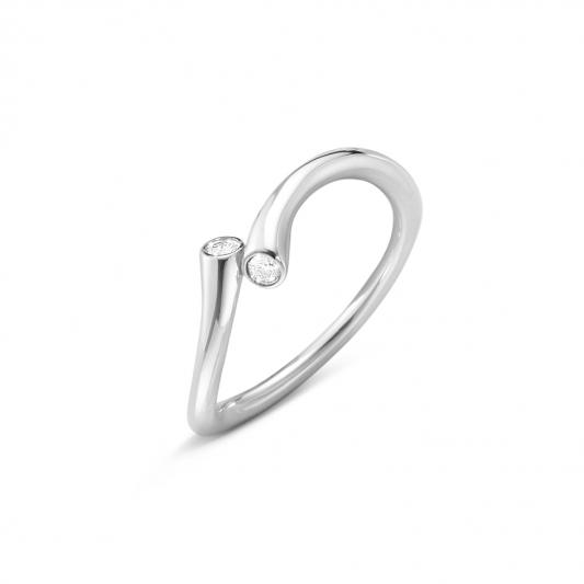 GEORG JENSEN_MAGIC 18K白金鑽石戒指,NT26,700起。
