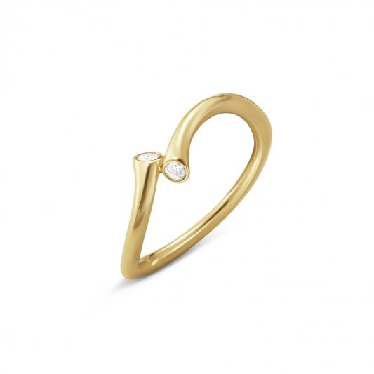 GEORG JENSEN_MAGIC 18K黃金鑽石戒指,NT24,800起。