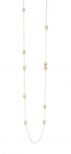 GEORG JENSEN_MAGIC 18K黃金鑽石項鍊,NT95,700。