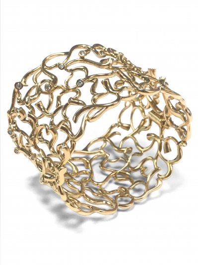 GEORG JENSEN_限量訂製MAGIC 18K黃金鑽石手鐲。