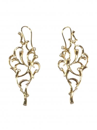 GEORG JENSEN_限量訂製MAGIC 18K黃金鑽石耳環。