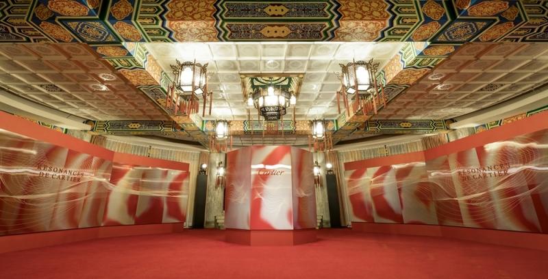 卡地亞(Cartier)2018 Résonances de Cartier頂級珠寶展盛大開展,17日晚間再於歷史名蹟陽明山中山樓舉辦貴賓晚宴。