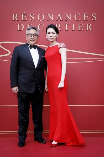 (左)卡地亞北亞區行政總裁Nigel Luk(右)卡地亞台灣區董事總經理Eva張佳靜