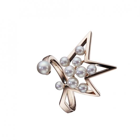 TASAKI abstract star 珍珠櫻花金戒指_NT$70,500