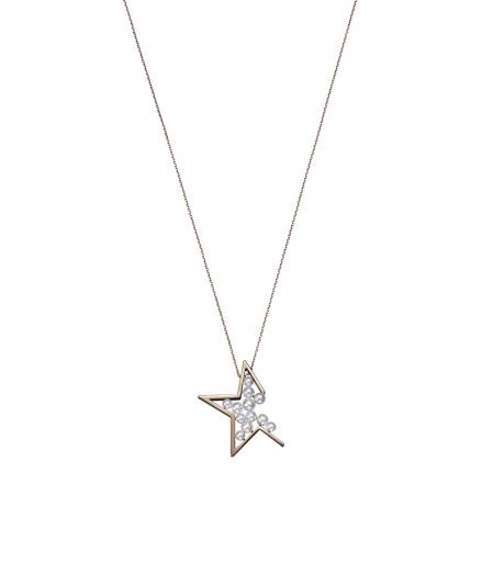 TASAKI abstract star 珍珠櫻花金項鍊_NT$70,500