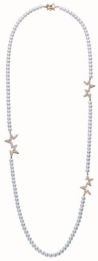 TASAKI abstract star 鑽石珍珠櫻花金項鍊_NT$662,000