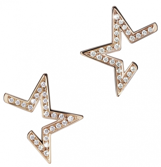 TASAKI abstract star 鑽石櫻花金耳環_NT$189,000