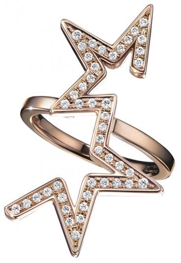 TASAKI abstract star 鑽石櫻花金戒指_NT$162,000