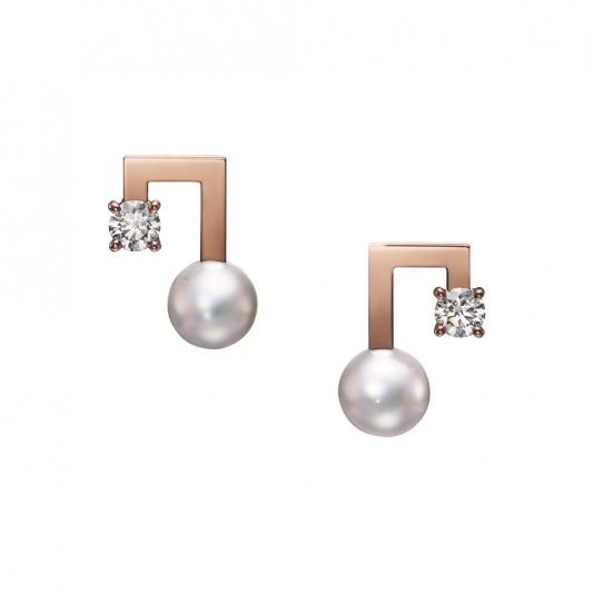 TASAKI balance note diamond 鑽石珍珠櫻花金耳環_NT$131,000