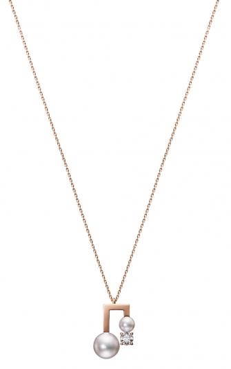 TASAKI balance note diamond 鑽石珍珠櫻花金項鍊_NT$131,000