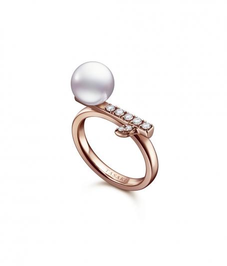 TASAKI kugel 鑽石珍珠櫻花金戒指_NT$83,900