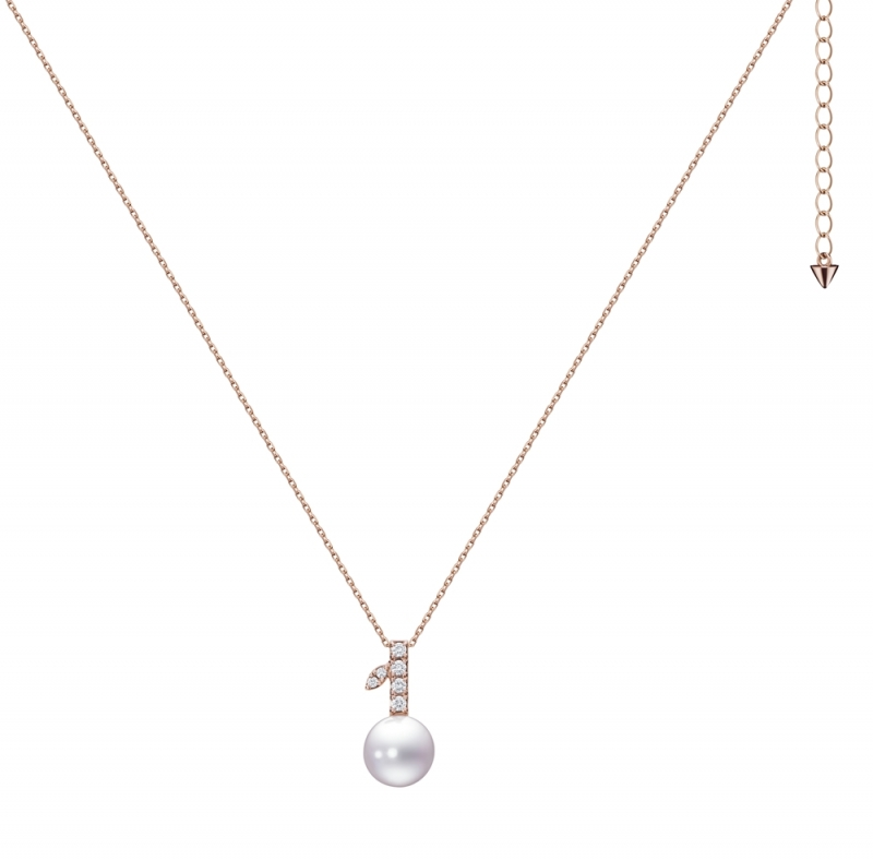 TASAKI kugel 鑽石珍珠櫻花金項鍊_NT$60,400
