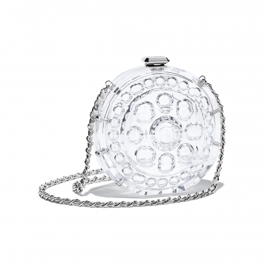 透明塑料鍊帶包,Chanel