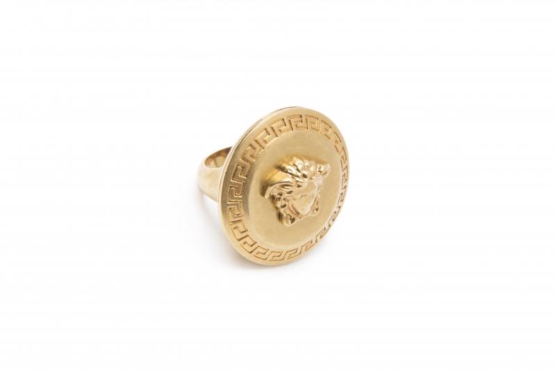 頭像圖騰金屬戒指,Versace