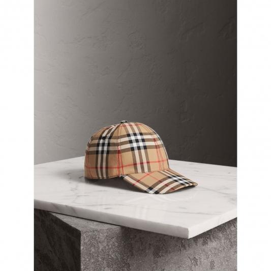 經典格紋棒球帽,Burberry