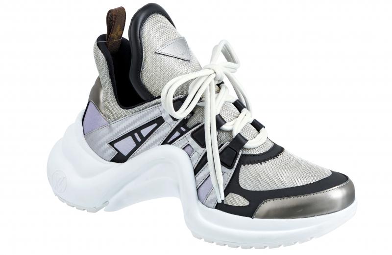 皮革拼接運動鞋,Louis Vuitton