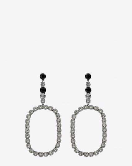 水鑽裝飾大耳環,Saint Laurent