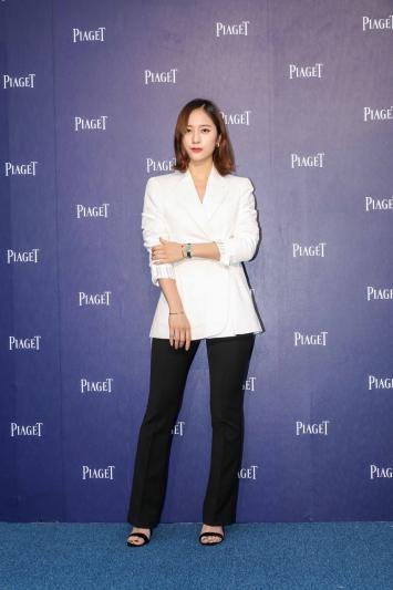 韓國時尚女星Krystal鄭秀晶出席伯爵快閃店開幕活動
