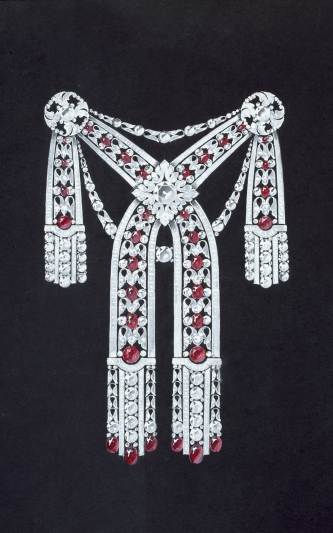 Youssoupoff公主胸衣裝飾- 1914年