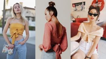 就用今夏最夯的時髦單品---綁帶衣,綁出你的夏日爛漫風情!