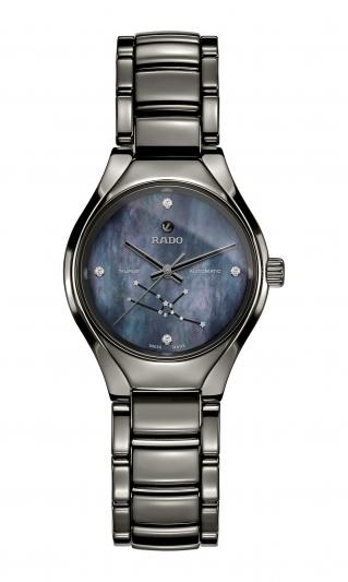 Rado True 真我系列十二星座限量腕錶,金牛座,建議售價 NT79,800(曾愷玹配戴款)。