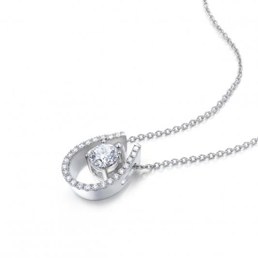 點睛品 Infini Love Diamond 「Iconic 系列」18K白金鑽石頸鍊-NT$70,600起