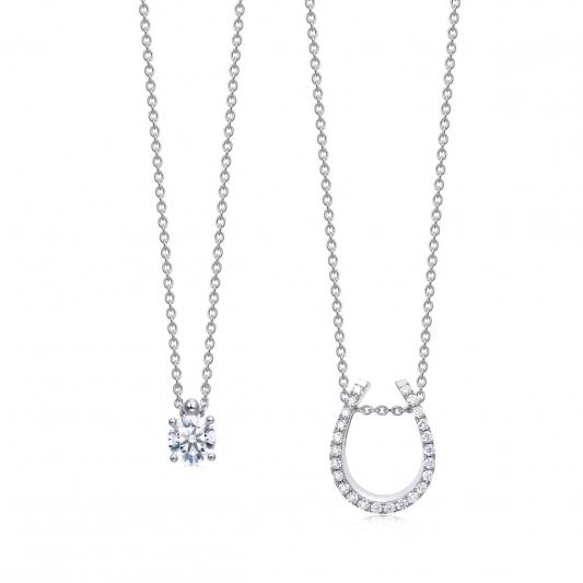 點睛品 Infini Love Diamond 「Iconic 系列」18K白金鑽石頸鍊-NT$70,600起 (可拆開配戴)