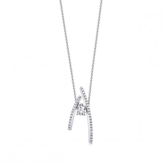 點睛品 Infini Love Diamond 「Iconic 系列」18K白金鑽石頸鍊-NT$78,000起