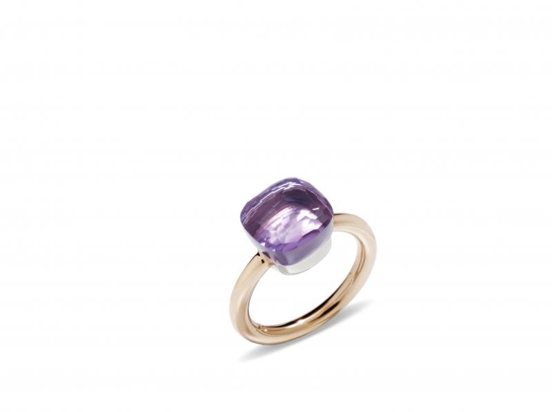 POMELLATO NUDO TRADITIONAL經典系列紫水晶玫瑰金戒指_建議售價新台幣53,500元起。