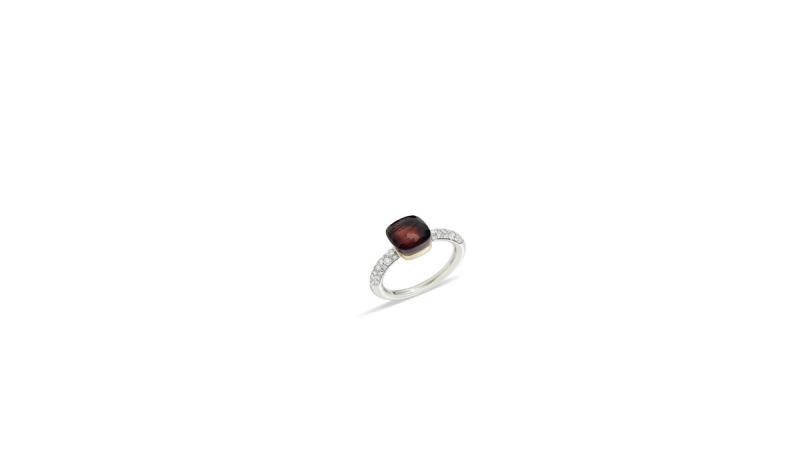 NUDO COLOR STORM全球限量戒指系列_紅石榴石鑽石戒指_新台幣328,500元整。