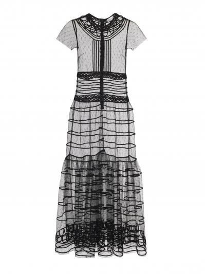 透膚網紗洋裝,REDValentino,NT49,800。