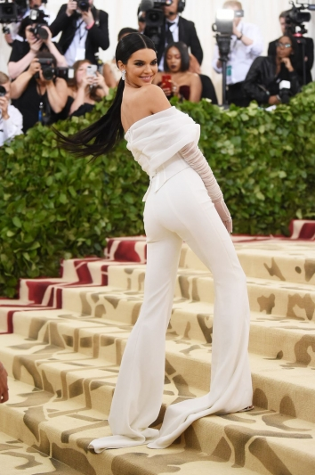 Kendall Jenner In Off White