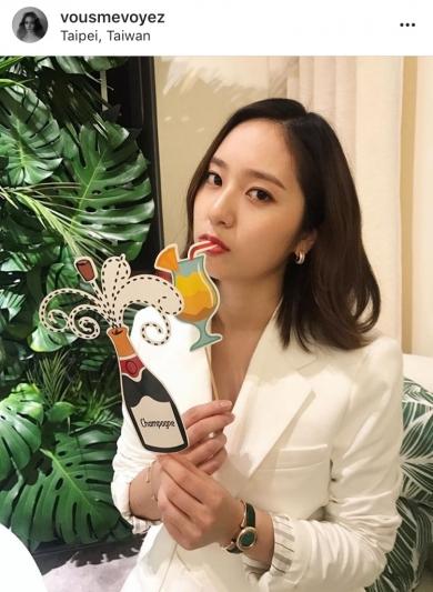 Krystal於4月26為Piaget台北101快閃店記者會站台