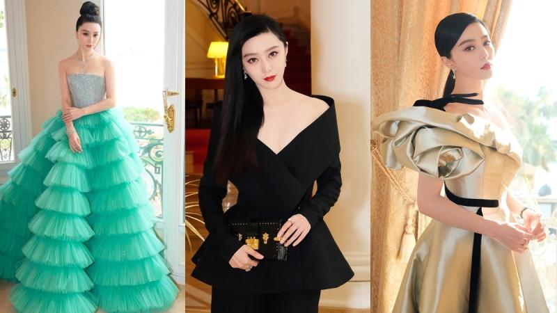 2018.05.08 身為品牌形象代言人,范冰冰在5月8日的開幕式、5月10日的《355》電影發佈會上都精心挑選了鑽石珠寶,盡顯奪目魅力。