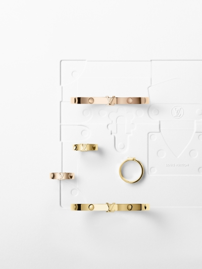 Louis Vuitton - Empreinte 黃K金與玫瑰金 手鐲與戒指。