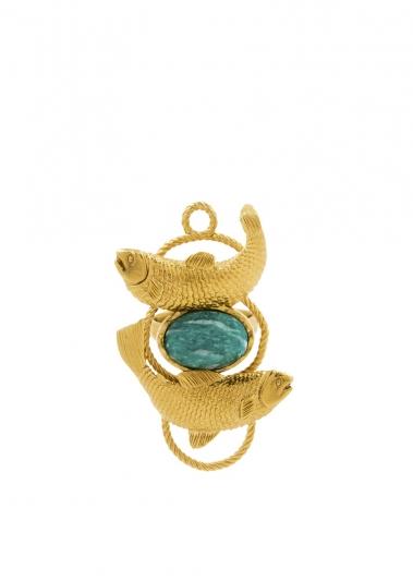 雙魚座:藍綠色,俄羅斯天河石