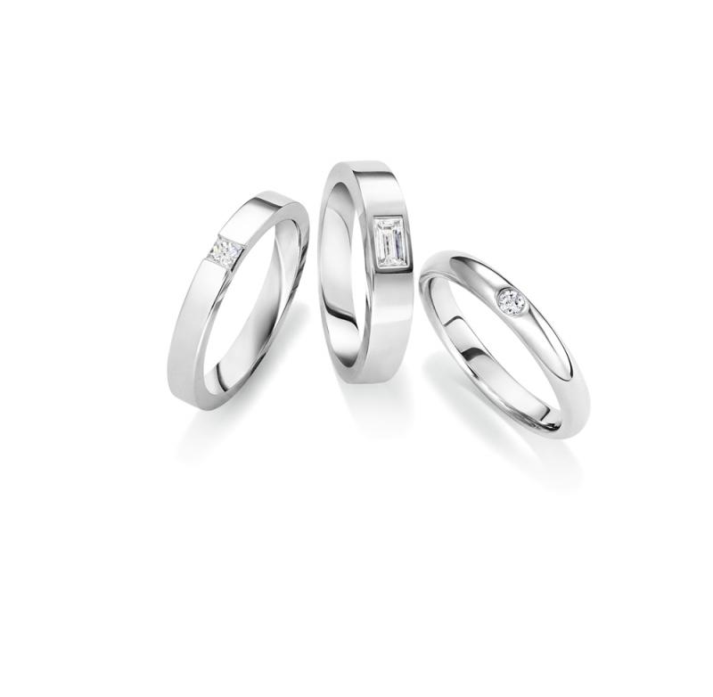 海瑞溫斯頓單鑽鑲嵌長型鑽石線戒