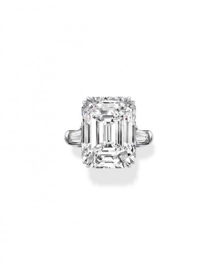 海瑞溫斯頓經典溫斯頓祖母綠式切工鑽石婚戒