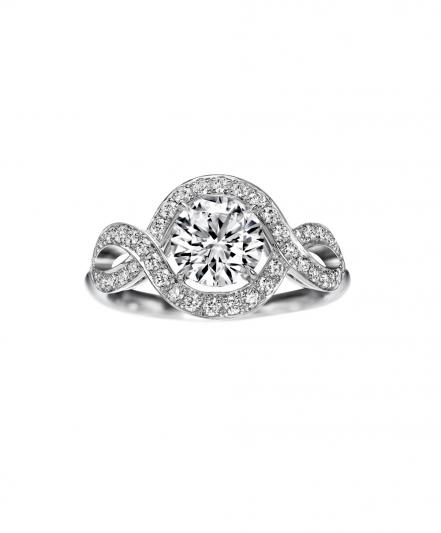 海瑞溫斯頓Lily Cluster系列單鑽戒指