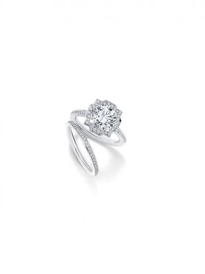 Belle系列鑽石婚戒與Belle系列鑽石線戒