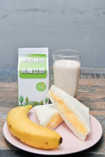 營養師對寵物族的微運動早餐搭配建議 高纖豆漿、香蕉、三明治