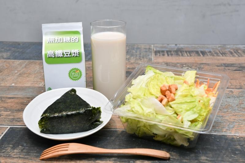 營養師對育兒族的微運動早餐搭配建議 高纖豆漿、沙拉、三角飯糰