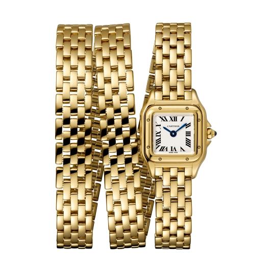 Panthère 美洲豹系列三環錶鍊腕錶,Cartier。