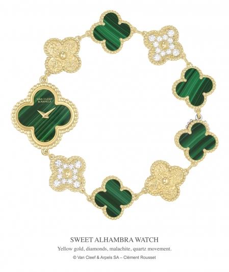 Alhambra Sweet 系列腕錶,Van Cleef & Arpels。