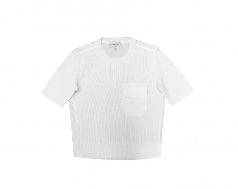 異材質拼接口袋上衣,Calvin Klein,NT10,690。