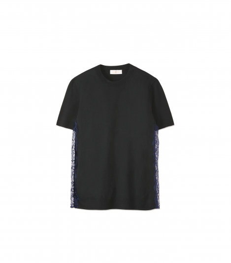 側邊拼接蕾絲T-Shirt,Tory Burch,NT11,900。