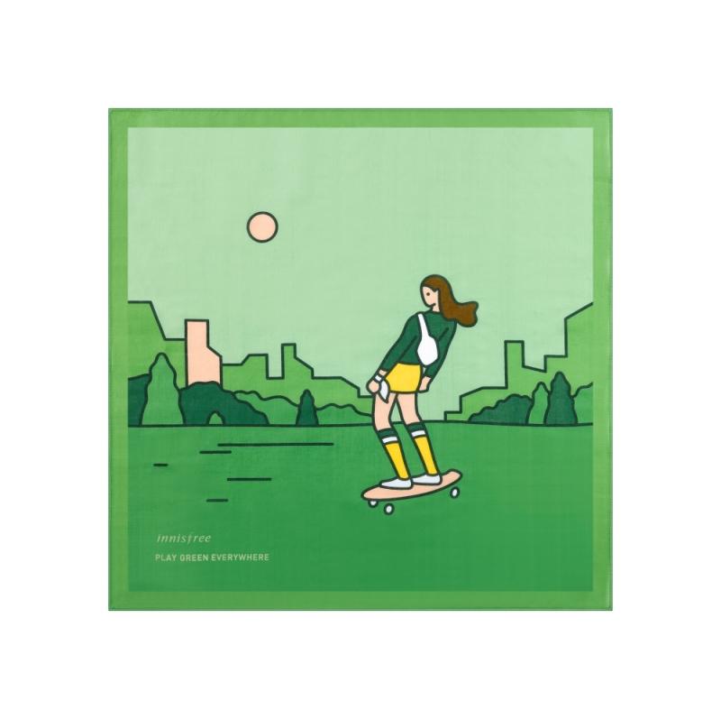 innisfree2018年環保手帕限定版-渴望一座乾淨城市的滑板手