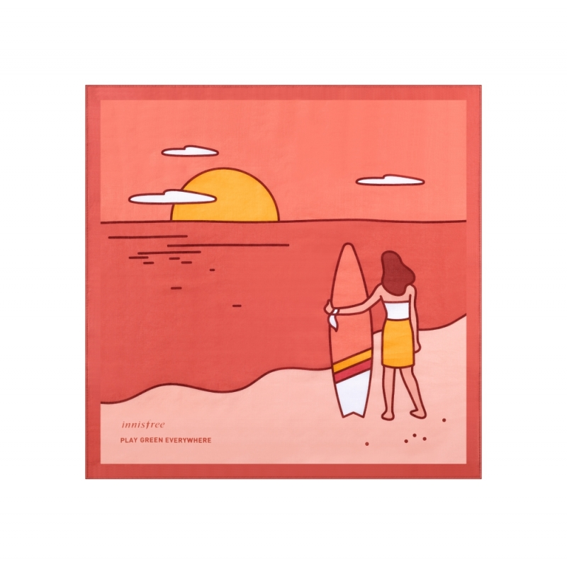 innisfree2018年環保手帕限定版-想要守護這片美麗海洋的衝浪者