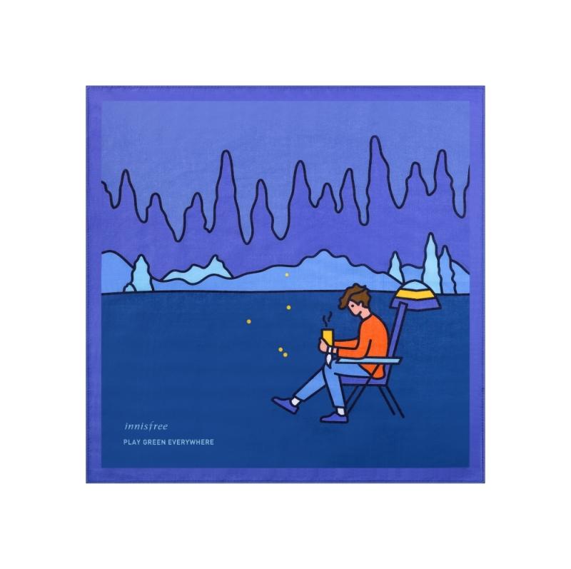 innisfree2018年環保手帕限定版-願望是旅宿於清幽森林裡的露營家